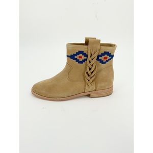 Soludos Western Ankle Booties Short Boots Suede